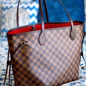 śNew Louis Vuitton Neverfull g Handbag y Purse MMü